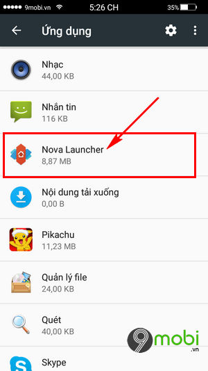 khoi phuc giao dien mac dinh android