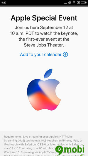 cach xem truc tiep iPhone 8 ra mat