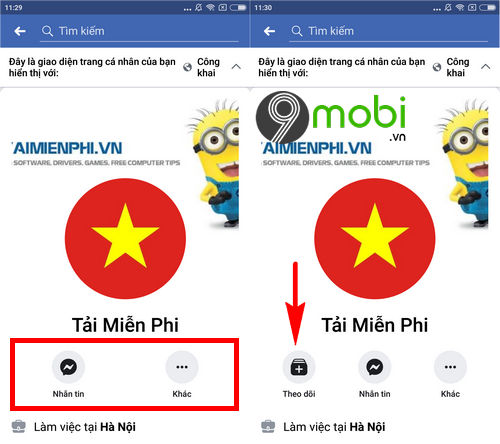 Cách mở theo dõi trên Facebook