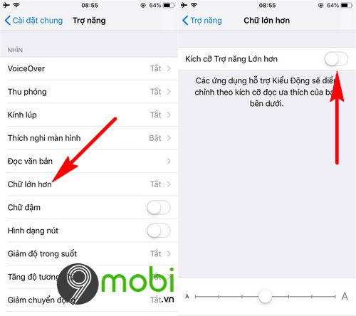 Cách chỉnh Font chữ dễ đọc hơn trên iPhone
