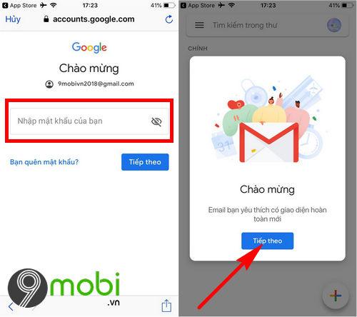 dang nhap gmail tren dien thoai android