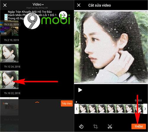 chen chu vao video tren dien thoai iphone