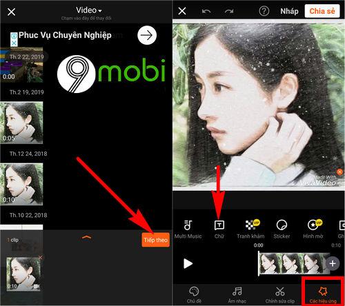 chen chu vao video tren dien thoai android