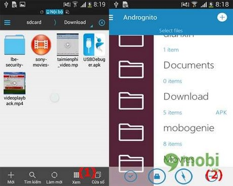 an file tren android