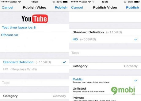 cach quay video time lapse tren iphone 6 plus, 6, ip 5s, 5, 4s, 4
