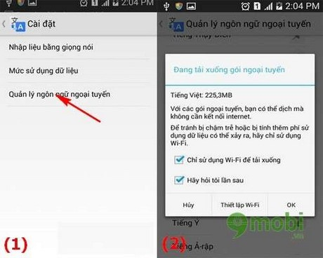 Manual Google Translate on Android
