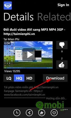 download video youtube cho lumia