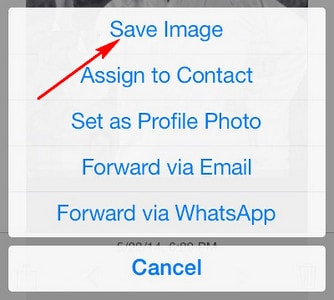 luu hinh anh trong whatsapp tren iphone