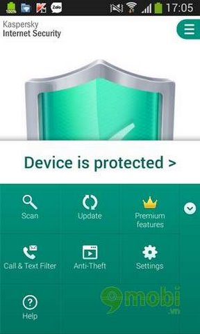 su dung kaspersky cho android