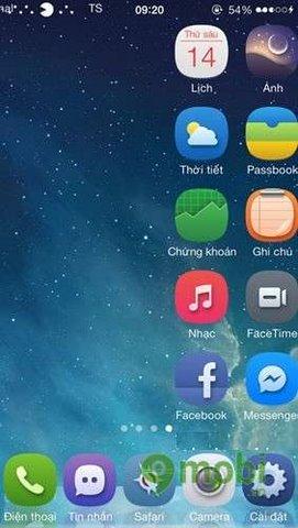 cuon trang home khong gioi han tren ios cua iphone 5, 4s, 4
