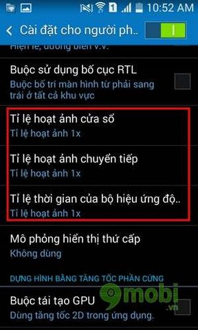 tat che do anh dong de tang toc tren android
