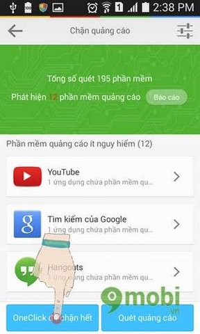 chan quang cao bang lbe security master tren android