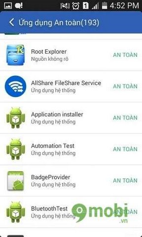 Chức năng chống virus của Clean Master trên Android