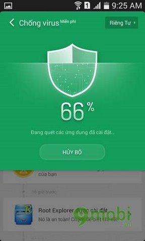 chuc nang chong virut cua clean master