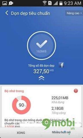 chuc nang don file rac cua clean master