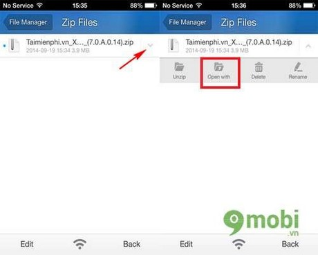 Get UC Browser download files on iPhone