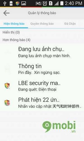 quan ly thong bao voi lbe security master tren androi
