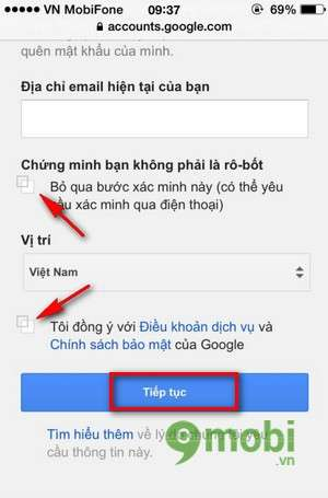 tao gmail ios tren iphone 6 plus, 6, ip 5s, 5, 4s, 4
