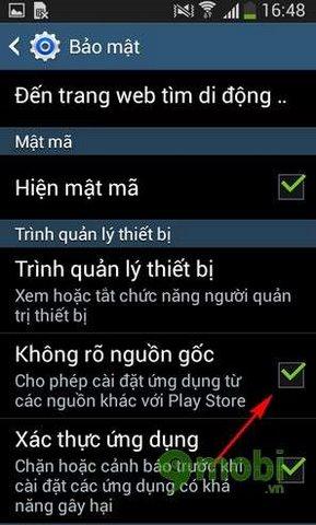 Cách cài tập tin .APK trên Android không cần CH Play