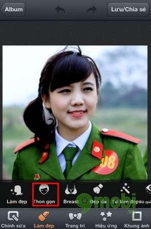 lam thon gon khuon mat bang photowonder tren android