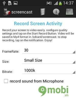 quay video màn hình trên android