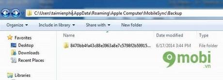 sao lưu dữ liệu iPhone bằng itunes