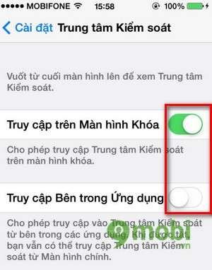 tat control center ios 7 cua iphone 5, 4s, 4