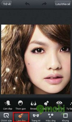 tay not ruoi bang photowonder tren android