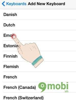 kich hoat ban phim emoji tren iphone 6 plus, 6, ip 5s, 5, 4s, 4