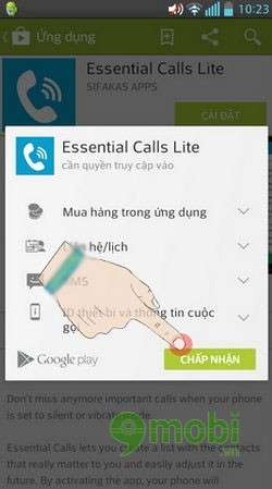 do chuong khan cap bang Essential Calls Lite