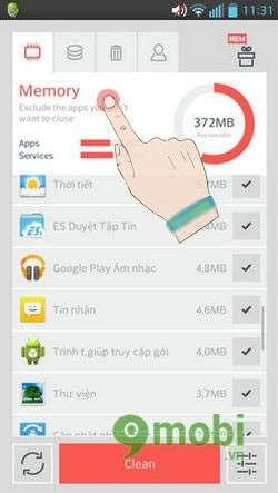 don dep va tang toc android bang the cleaner