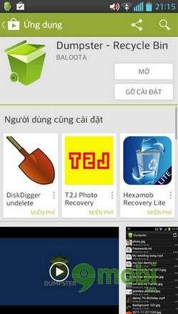 Khôi phục dữ liệu trên Android
