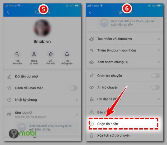 chan tin nhan zalo tren iphone 6 plus, 6, ip 5s, 5, 4s, 4