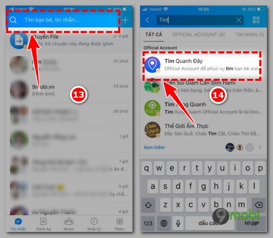 Cach ket ban tren Zalo cho iOS
